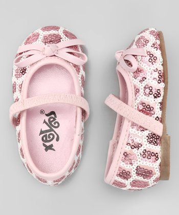 Xeyes Pink Sequin Bow Flat