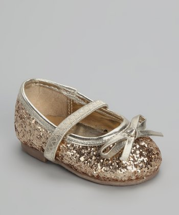 Xeyes Gold Sequin Flat