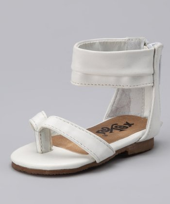 White Gladiator Sandal