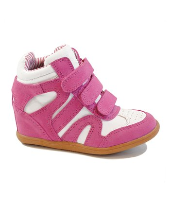 Fuchsia Wedge Bootie