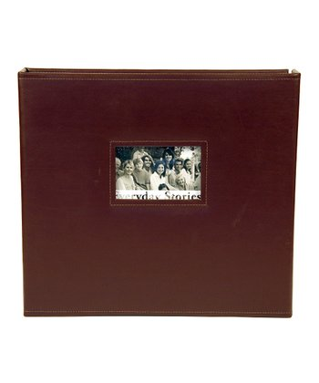 Brown Leather Square Scrapbook