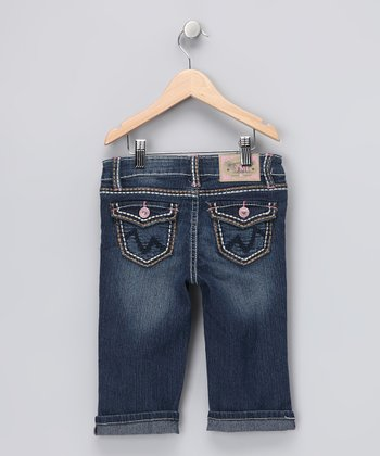 Roll Cuff Denim Capri Pants