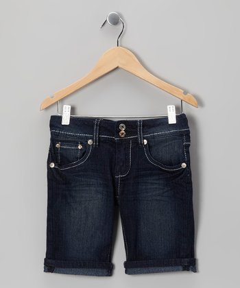 Medium Wash Bermuda Shorts