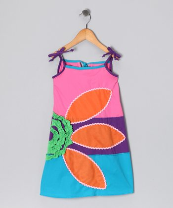 Pink & Blue Daisy Dress - Infant