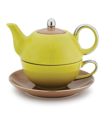 Green & Brown Siena Tea-for-One Set