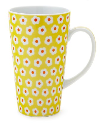 Yellow Daisy 12-Oz. Latte Mug