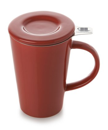 Red Friendly Tea Mug