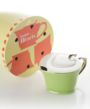 Lime Green Inside-Out Heart Teapot