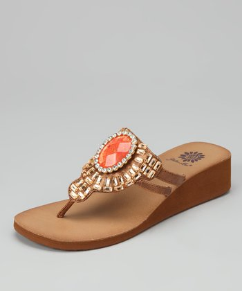 Bronze Olympia Wedge Sandal