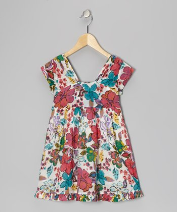 Pink & White Floral Dress - Toddler & Girls