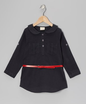 Chambray Belted Tunic - Toddler & Girls