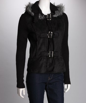 Black Buckle Coat