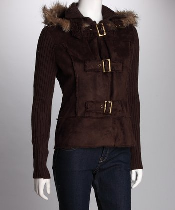 Dark Brown Buckle Coat