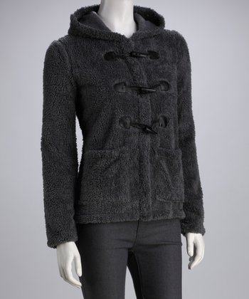 Charcoal Toggle Sweater