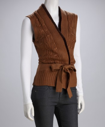 Light Brown Sweater Vest