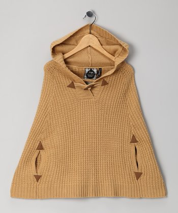 Camel Toggle Cape - Girls