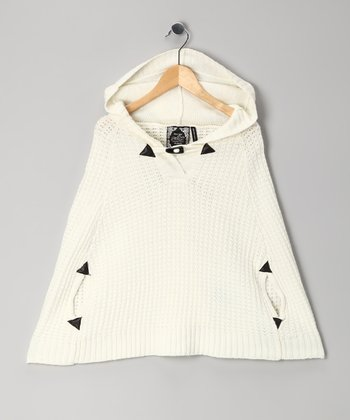 Off-White Toggle Cape - Girls