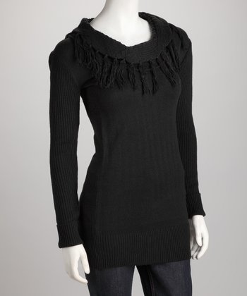 Black Tassel Sweater