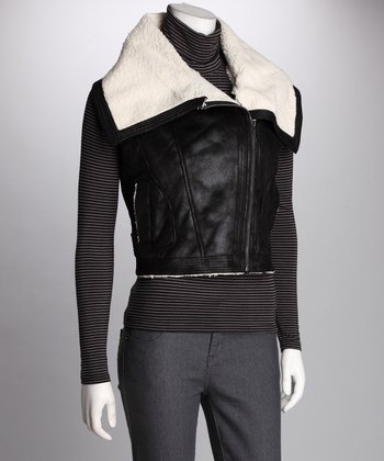 Black Side-Zip Vest