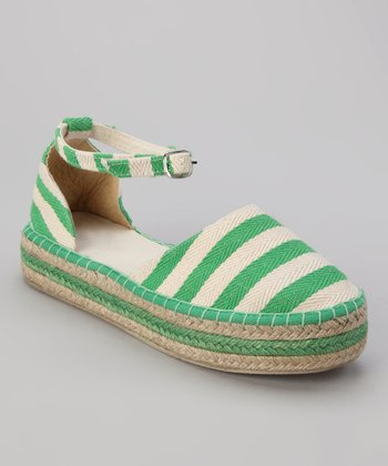 Green Summer Platform Shoe