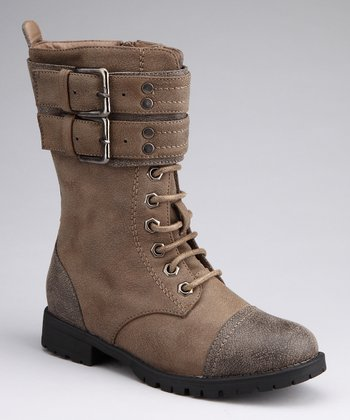 Brown Buckle Nancy Boot