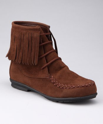 Brown Fringy Boot