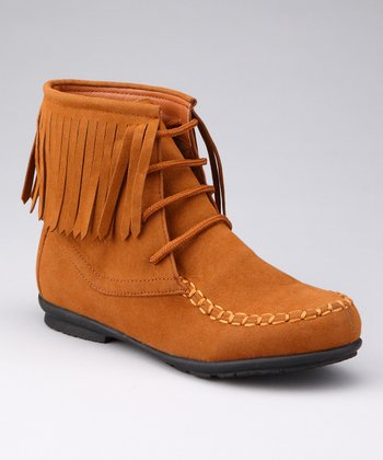 Rust Fringy Boot