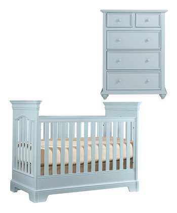 Sky Blue Tribute Crib & Chest