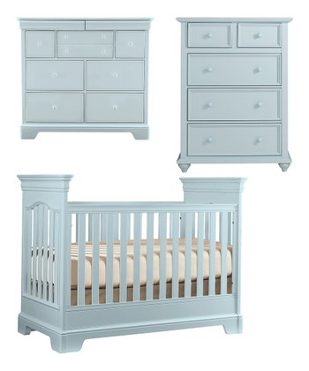 Sky Blue Tribute Crib, Dresser & Chest Set