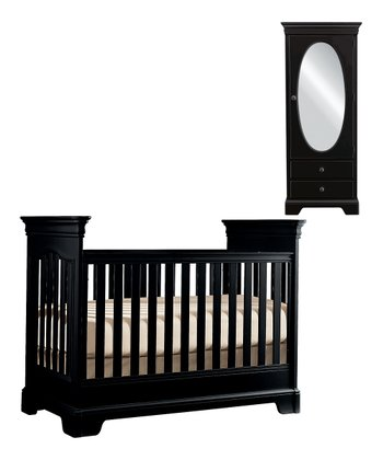 Black Tribute Crib & Wardrobe