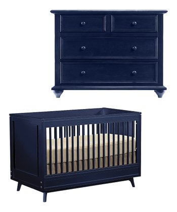 True Blue Kudos Crib & Dresser