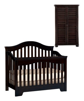 Espresso Built to Grow Bravo Crib & Armoire