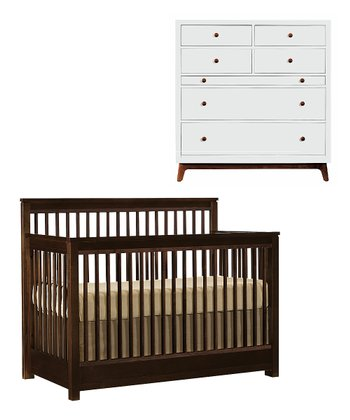 Espresso Built to Grow Encore Crib & Dresser