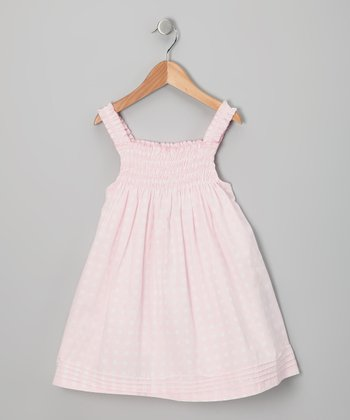 Baby Pink Polka Dot Babydoll Dress - Infant, Toddler & Girls