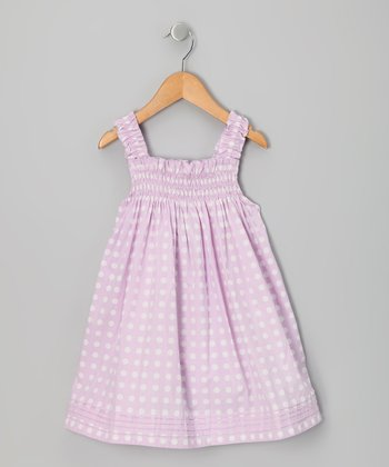 Lavender Polka Dot Babydoll Dress - Infant, Toddler & Girls