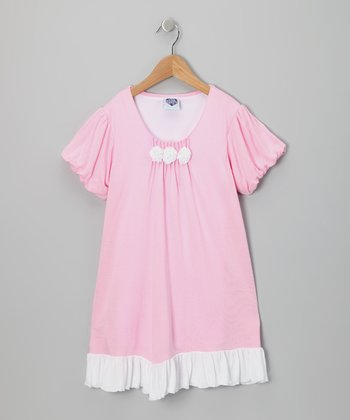 Baby Pink Rosette Dress - Infant & Girls