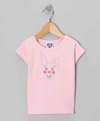 Pink Bunny Face Tee - Infant, Toddler & Girls