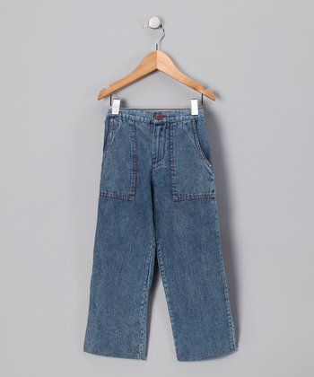 Blue Denim Cargo Pants - Infant, Toddler & Boys