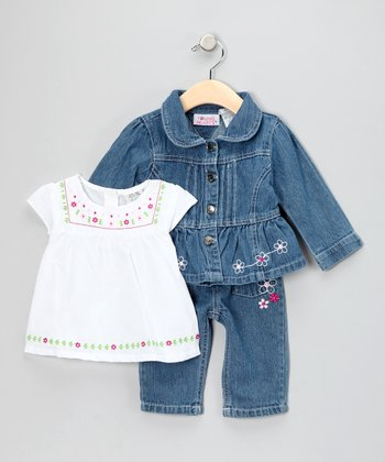 Blue Denim Jacket Set - Toddler