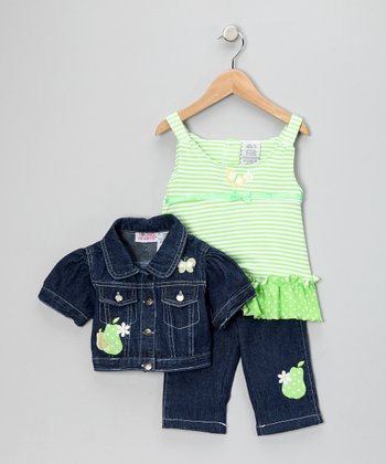 Green Pear Pants Set - Toddler