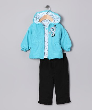 Blue Flower Jacket Set - Infant & Toddler