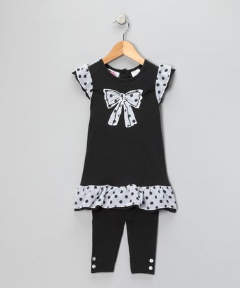 Black Bow Tunic & Leggings - Infant