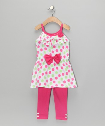 Pink Polka Dot Tunic & Leggings - Infant