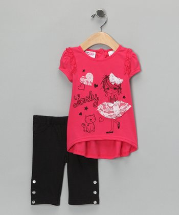 Hot Pink 'Lovely' Tunic & Pants - Infant & Toddler