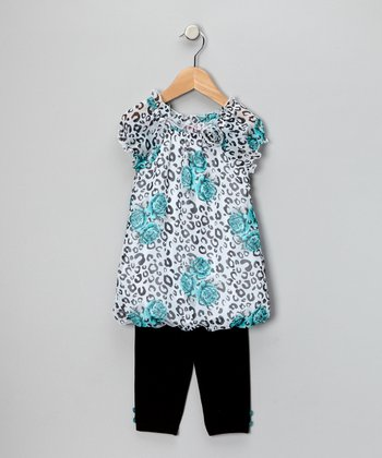 Turquoise Bubble Tunic & Leggings - Infant