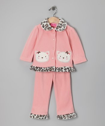 Medium Orange Cheetah Cat Jacket & Pants - Infant