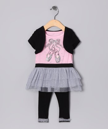 Light Pink Ballet Tunic & Black Leggings - Infant