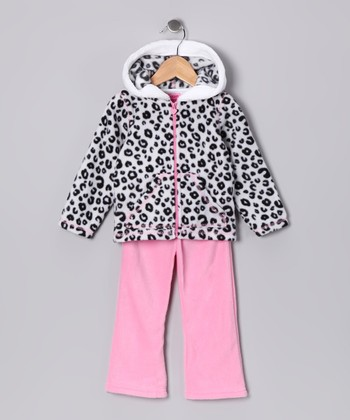 Pink Cheetah Zip-Up Hoodie & Pants - Infant