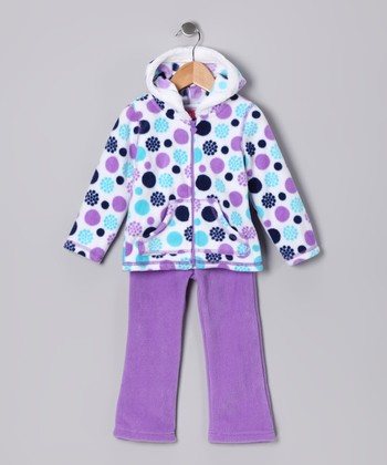 Lavender Zip-Up Hoodie & Pants - Infant, Toddler & Girls