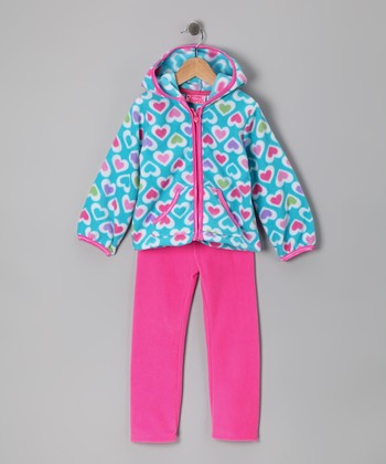 Blue Heart Zip-Up Hoodie & Pants - Infant